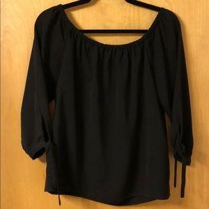 50% off Sale!! JCREW Off the shoulder black top